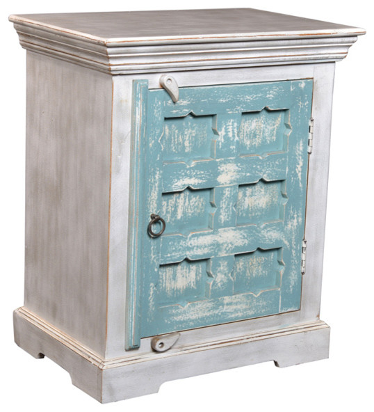 Harrison waterfall night stand beach style nightstands for Waterfall design nightstand