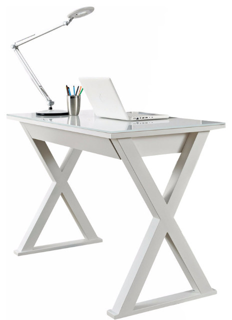 Peachy Walker Edison 48 White Glass Computer Desk Interior Design Ideas Skatsoteloinfo