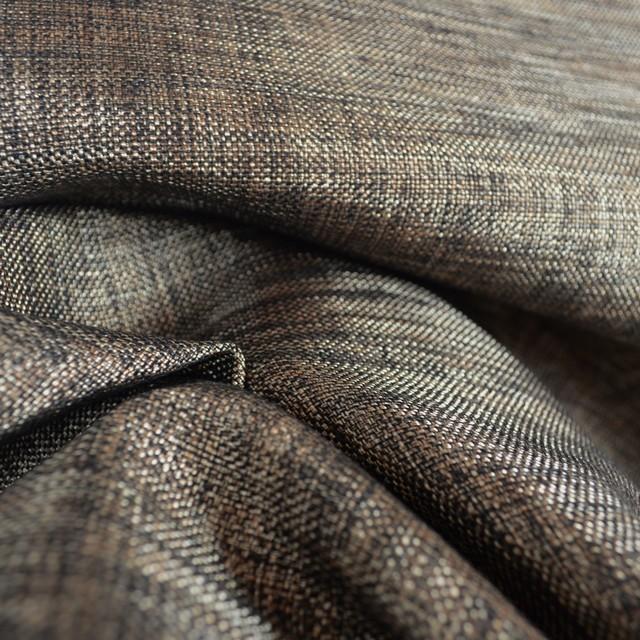 Black And Brown Metallic Upholstery Fabric Luster Bark