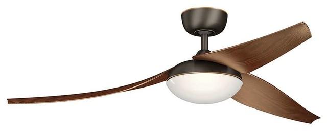 Kichler 310700oz Flyy Outdoor Ceiling Fan With Light, Olde Bronze, 60.