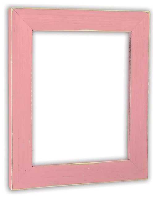 Solid Wood Vintage Baby Pink Picture Frame