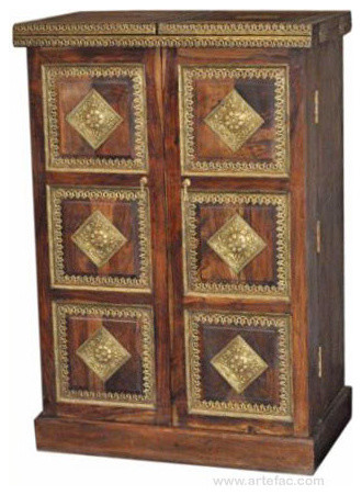 Antique Wooden Bar Counter With Brass Fitting Liquor Cabinet ...