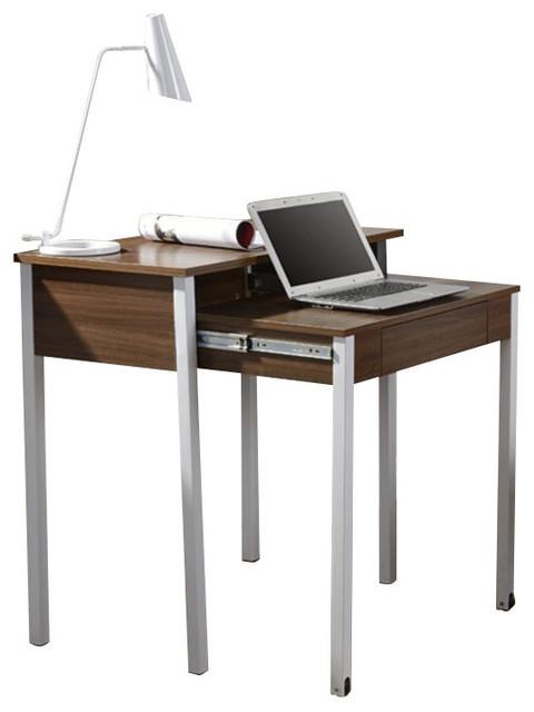 Charmant Techni Mobili Retractable Student Desk With Storage In Walnut