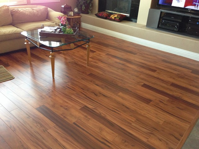 Laminate transitional living room las vegas by for Cheap flooring solutions