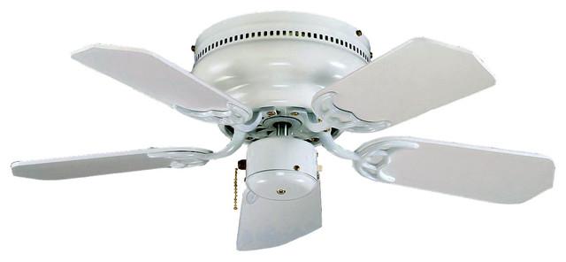 Flush Mount 30 Quot Ceiling Fan White White Blades