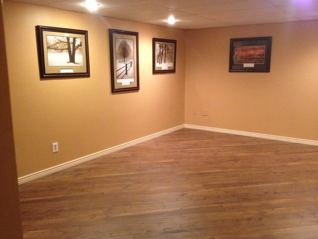 Tas Customer Home Laminate Basement Contemporary Basement