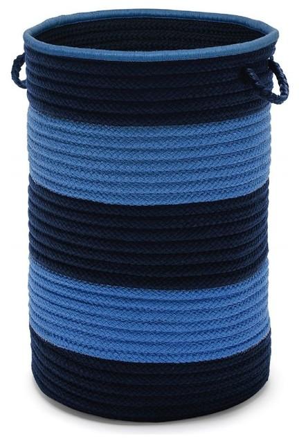 """Basket Color Block Hampers Basket, Blue, Round 16""""."""