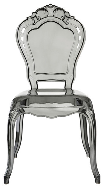 Premium Fashion Acrylic Princess Dining Chair Smoky.