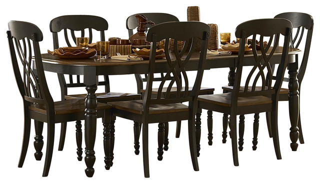 homelegance ohana 5-piece rectangular dining room set in black