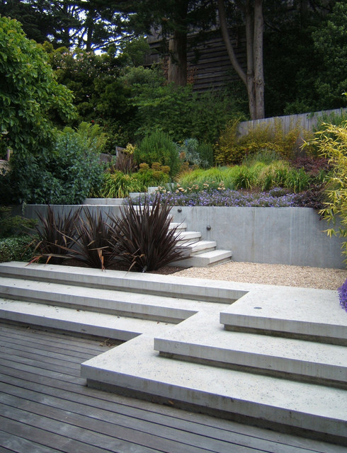 Cole valley modern modern san francisco by outer for San francisco landscape architecture