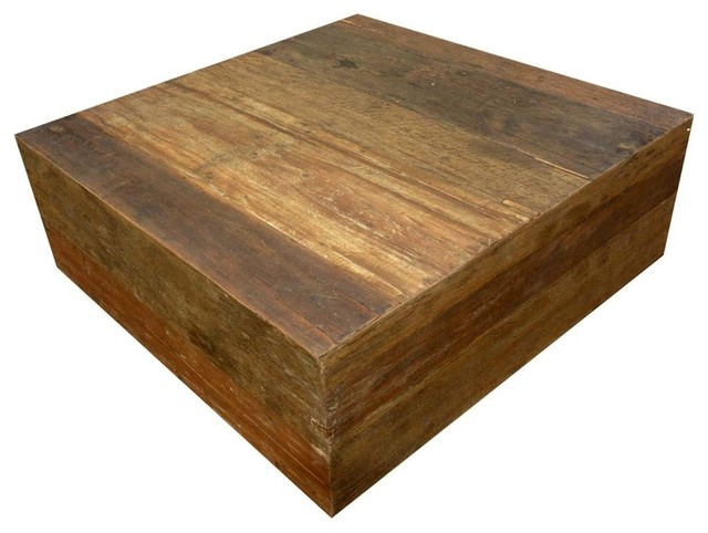 Alachian Rustic Old Wood Square Box Style Coffee Table Transitional Tables By Sierra Living Concepts