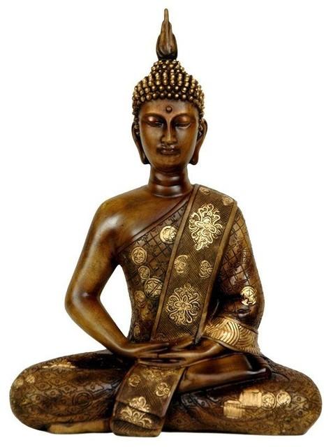 11 Quot Thai Sitting Buddha Statue Asian Decorative
