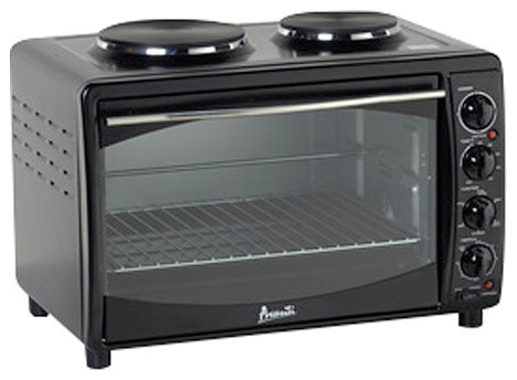 Full Range Convection Oven Black Traditional Toaster