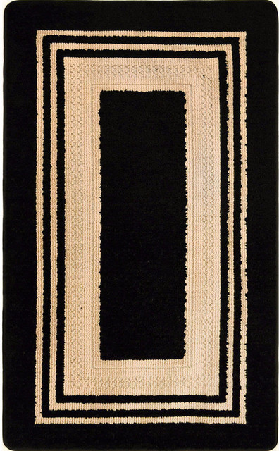 Montclair Black Beige 24 X39 Accent Rug Contemporary Area Rugs By Sohome Market