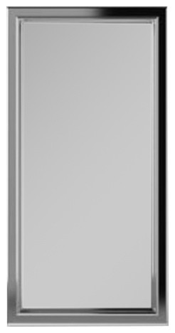 "Xdc2040 Merion 19""x39"" Framed Cabinet, Classic Gray Interior, Left, Satin Nickel."