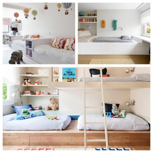 Dise o cuarto compartido literas camas nido o camas - Camas nido diseno ...
