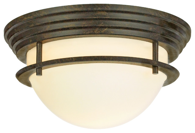 Foyle Bronze Flush-Mount Ceiling Light, Large.