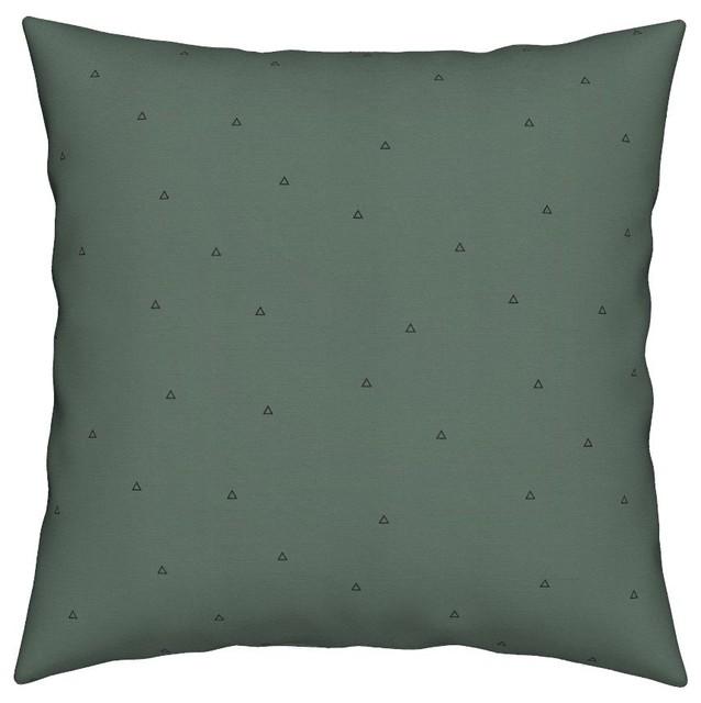 triangles geometric dark green khaki triangles throw pillow contemporary decorative pillows. Black Bedroom Furniture Sets. Home Design Ideas