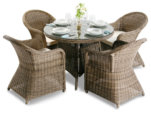 4 seater rattan garden furniture set asha weymouth with cushions contemporary