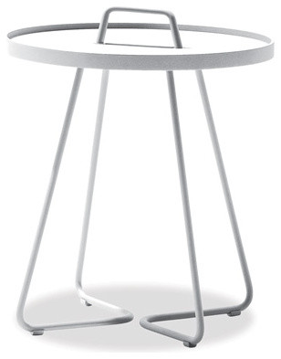 white outdoor side table. Ibiza White Outdoor Side Table O