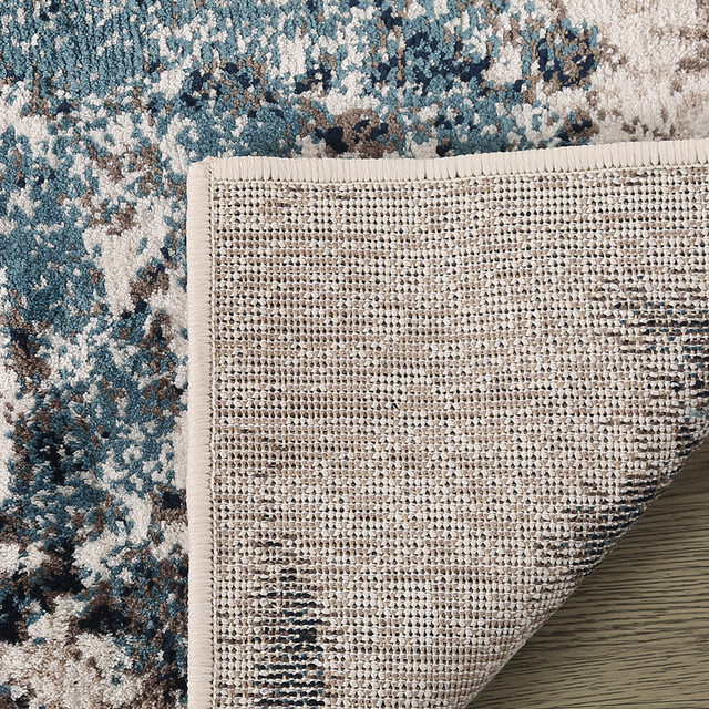 LNC Distressed Indoor Vintage Abstract Carpet Area Rugs, 5' X 7'