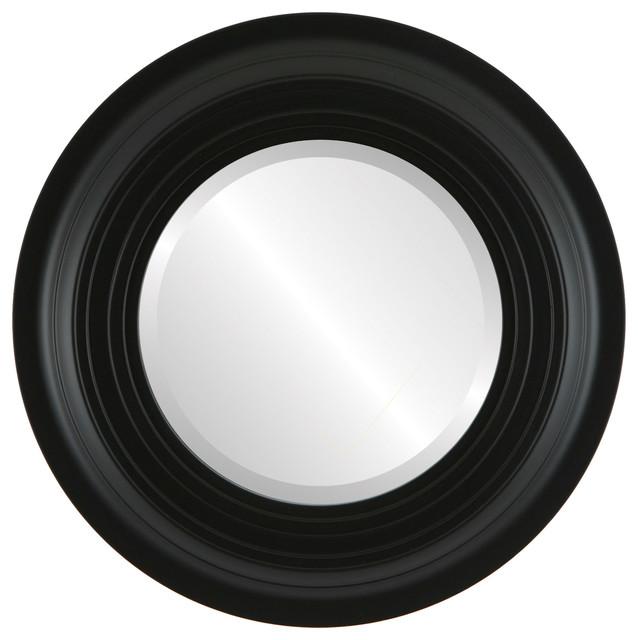 Imperial framed round mirror in matte black wall mirrors for Round black wall mirror