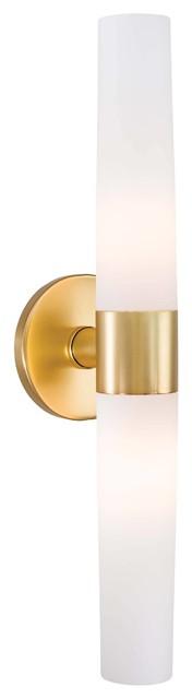 George Kovacs Saber 2-Light Bathroom Lighting Fixture, Gold