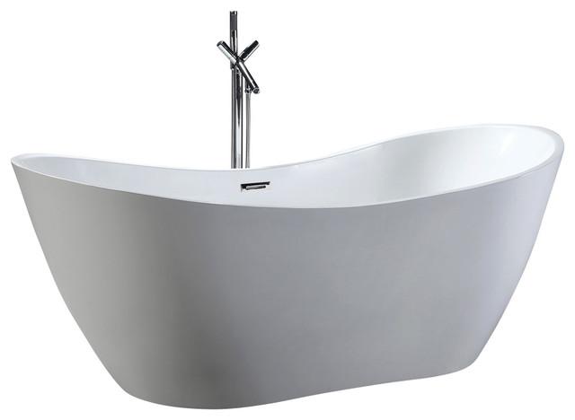 HelixBath Theadelphia Freestanding Bathtub Acrylic White