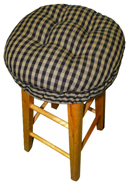 Checkers Black amp Tan Bar Stool Cover with Latex Foam Bar  : seat cushions from www.houzz.com size 446 x 640 jpeg 98kB