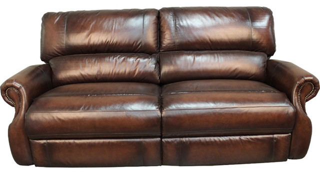Parker Living, Hawthorne Brown Wipe Dual Power Reclining 2 Piece Living  Room Set Transitional