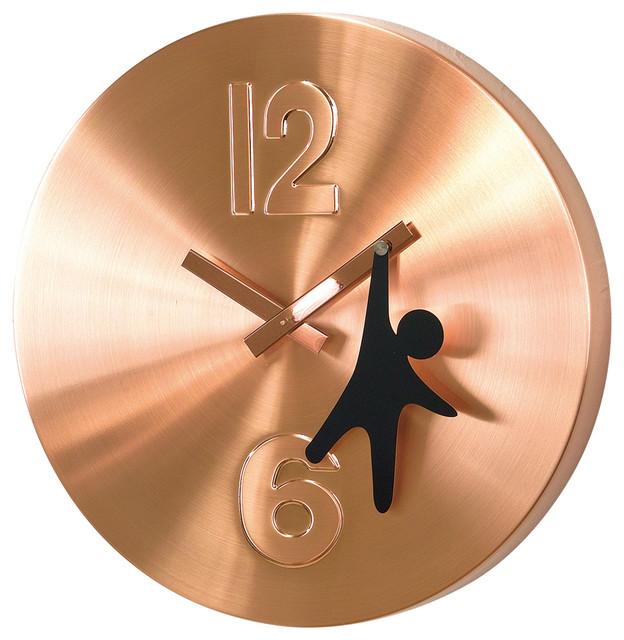 Edge Wall Clock Hanging Man Copper 12