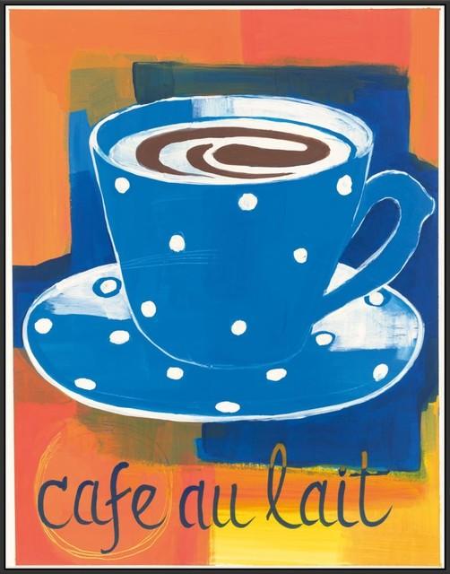 Cafe Au Lait Framed Canvas Art 31 75