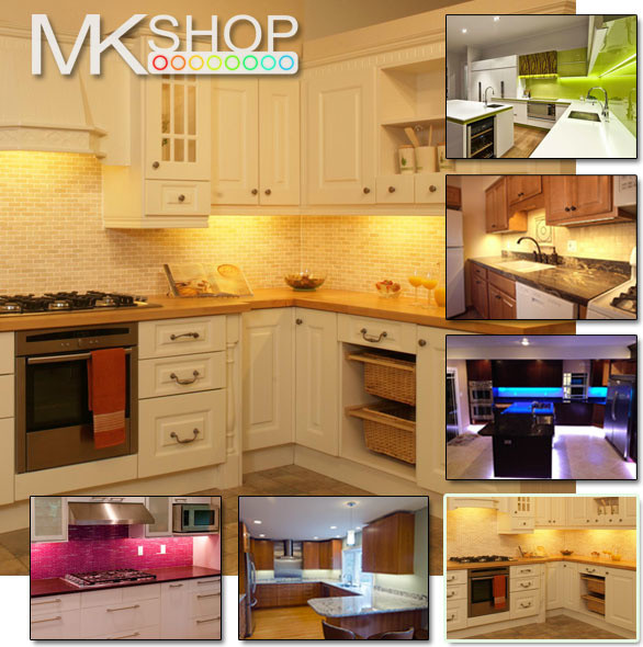 UNDER CABINET COUNTER KITCHEN WARM WHITE LED STRIP LIGHT
