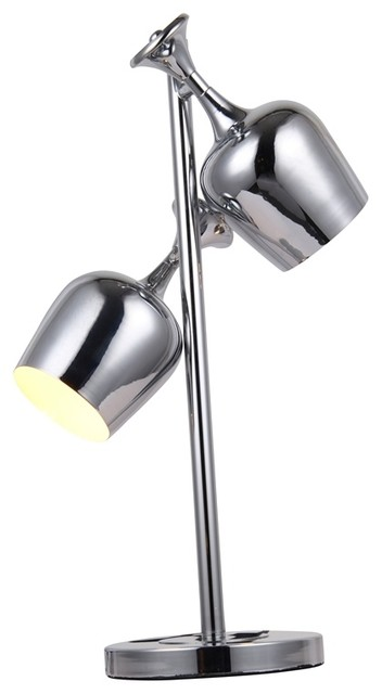 Elegant Tl1247 Industrial  Table Lamp In Chrome.