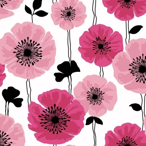 Darcy Magenta Modern Floral Wallpaper Bolt