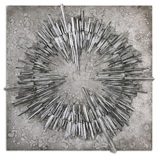 Nebulus Silver Wall Art 01303 contemporary-metal-wall-art