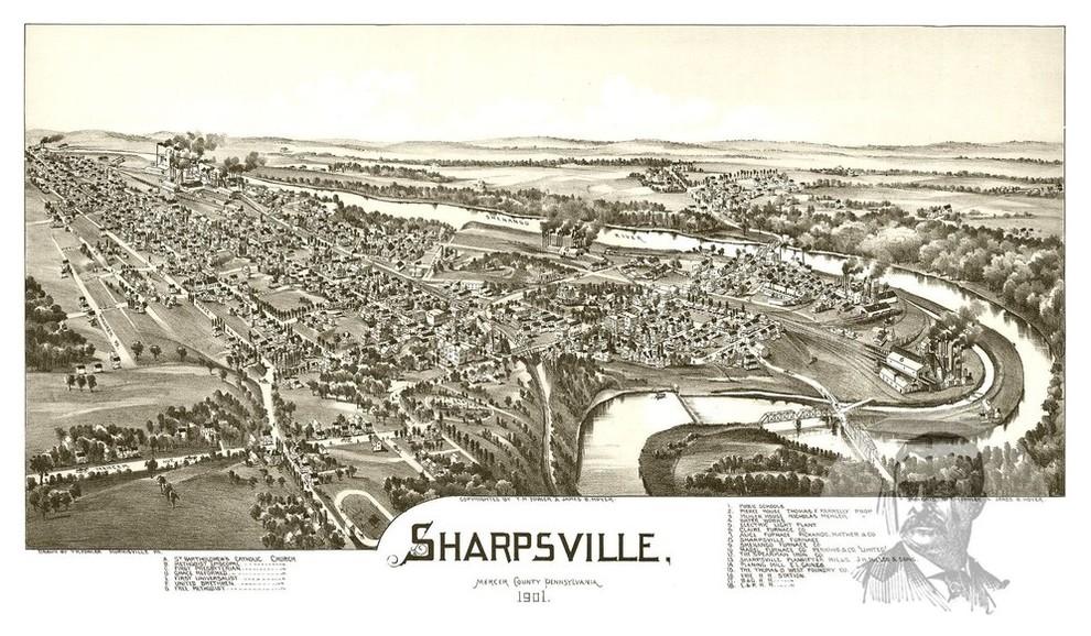 24x36 Vintage Reproduction Historic Map Scranton Pennsylvania 1890