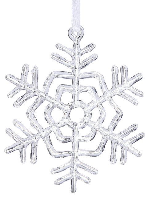Vickerman 5 Clear Acrylic Snowflake Christmas Ornament Contemporary Christmas Ornaments By Virventures
