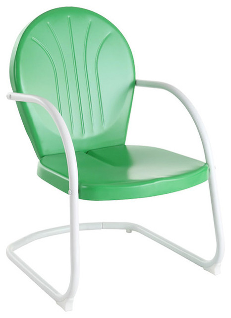 Griffith Metal Chair Contemporary Outdoor Lounge Chairs by Crosley