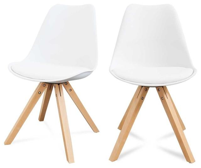 lot de 2 chaises design ormond wood couleur blanc scandinave chaise de salle manger par. Black Bedroom Furniture Sets. Home Design Ideas