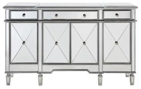 Elegant Lighting MF6-1001 60 Wide 4 Door Chest from the Danville Collection