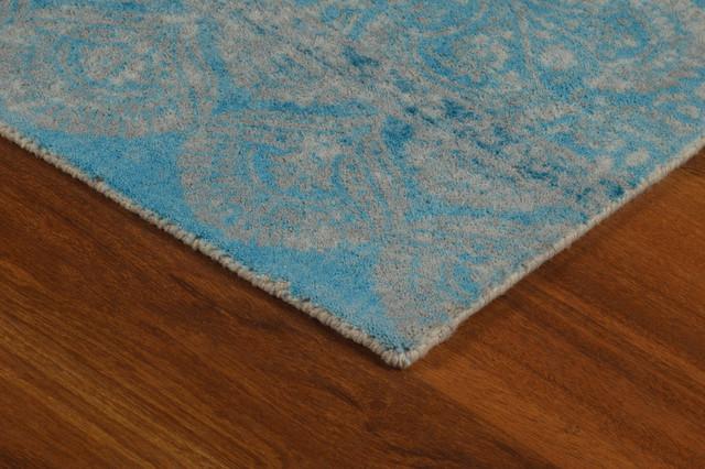 "Blue Gradient Contemporary Modern Area Rug, 7'6""x9'6"""