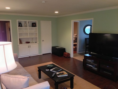Our Living Room Is Painted With Mint Green Walls And We Have No Clue How To  Pull It Together. This Is The Main Living Space. Any Opinions Would Be  Greatly ... Part 98