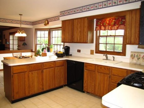 Color For Granite Countertop On Honey Oak Cabinets