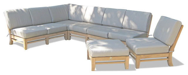 6 Piece Del Outdoor Teak Sectional Sofa