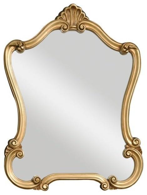 Walton Hall Lightly Distressed Gold Leaf Mirror.