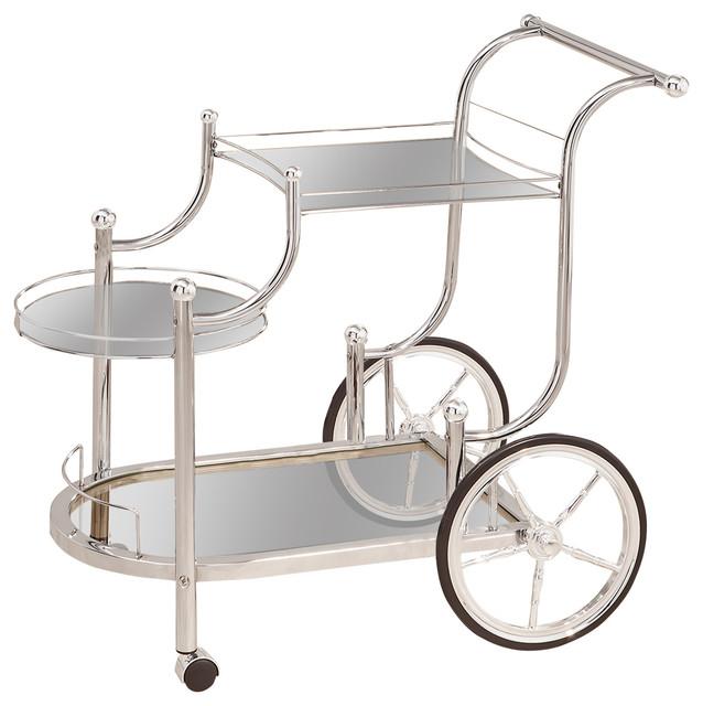 Coaster Fine Furniture Coaster Serving Cart Chrome Finish