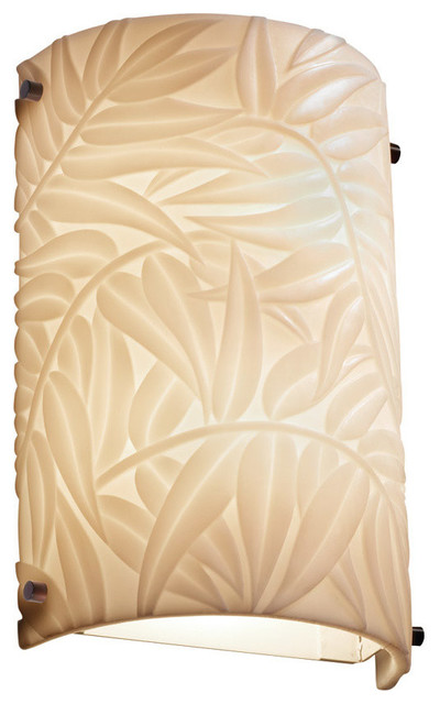 Tropical Bathroom Wall Sconces : Signature 2-Light Wall Sconce, Brushed Nickel - Tropical - Wall Sconces - by Lighting New York