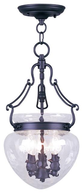 Livex Lighting 3-Light Black Chain Hang/ceiling Mount.