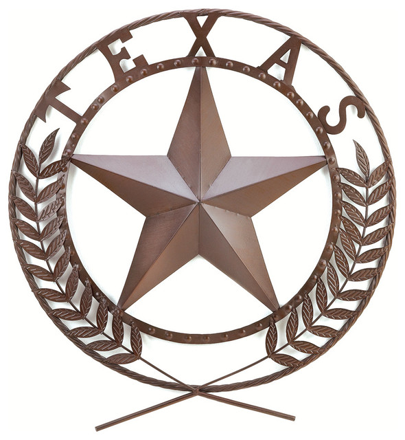 Texas Star Wall Art texas star wall plaque - southwestern - metal wall art -